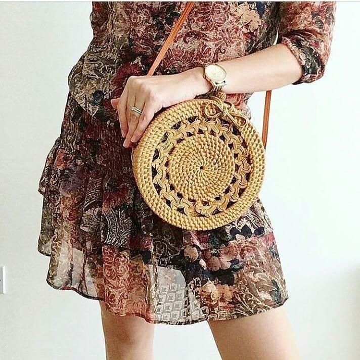 Bali Artisan Rattan Crossbody Bag Travel Inspired Styles