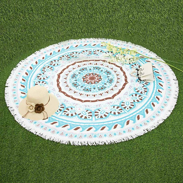 fashionable bohemian style summer round beach towel