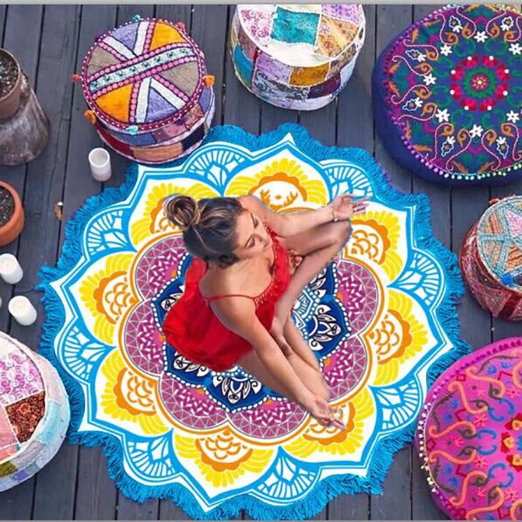 indian-mandala-lotus-beach-towel