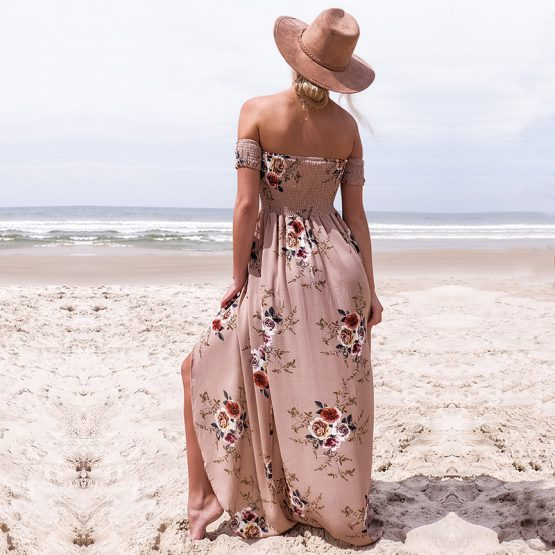 bohemian-australian-style-long-beach-floral-maxi-dress-khaki