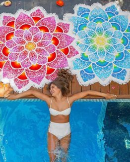 bohemian-mandala-lotus-beach-towel