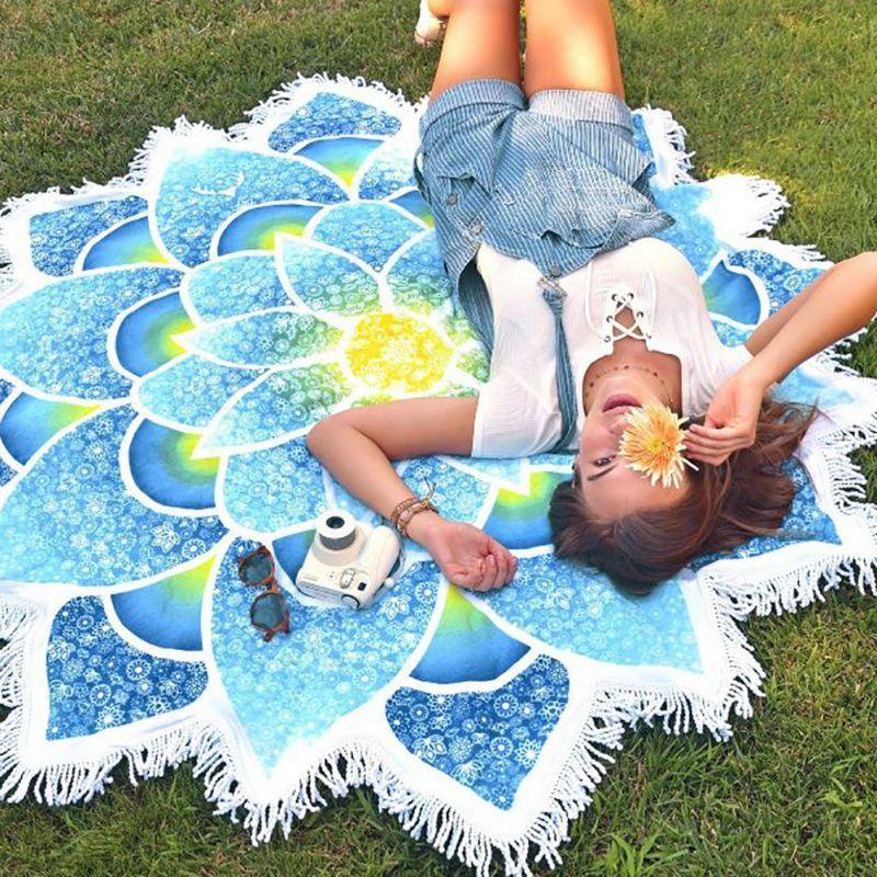 bohemian-mandala-lotus-beach-towel