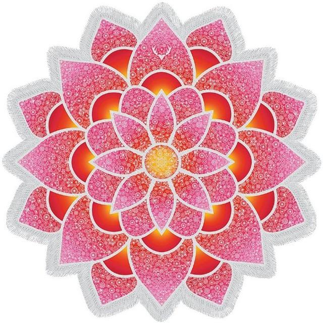 bohemian-mandala-lotus-beach-towel-ruby-red