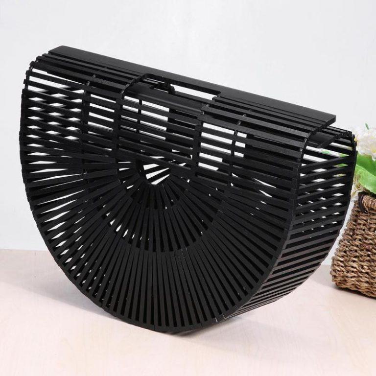 handmade-bali-bamboo-fan-tote-handbag-black