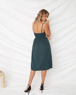 isabella-pretty-bow-summer-dress-charcoal-green