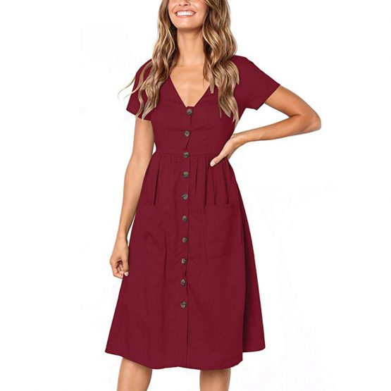 isla-summer-fun-dress-v-neck-buttons-short-sleeves